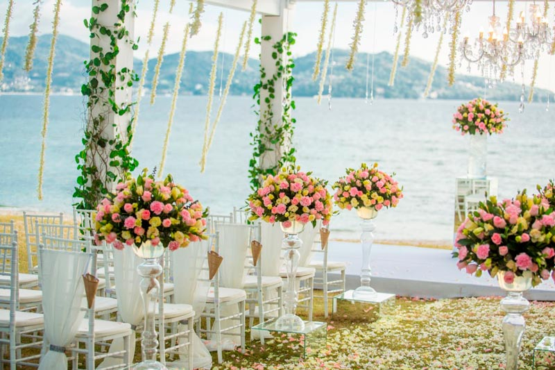 Flowers Wedding, planning wedding, phuket beach wedding
