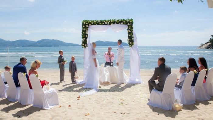 จัดงานแต่งในภูเก็ต, แต่งงานริมทะเล, Phuket Beach Wedding