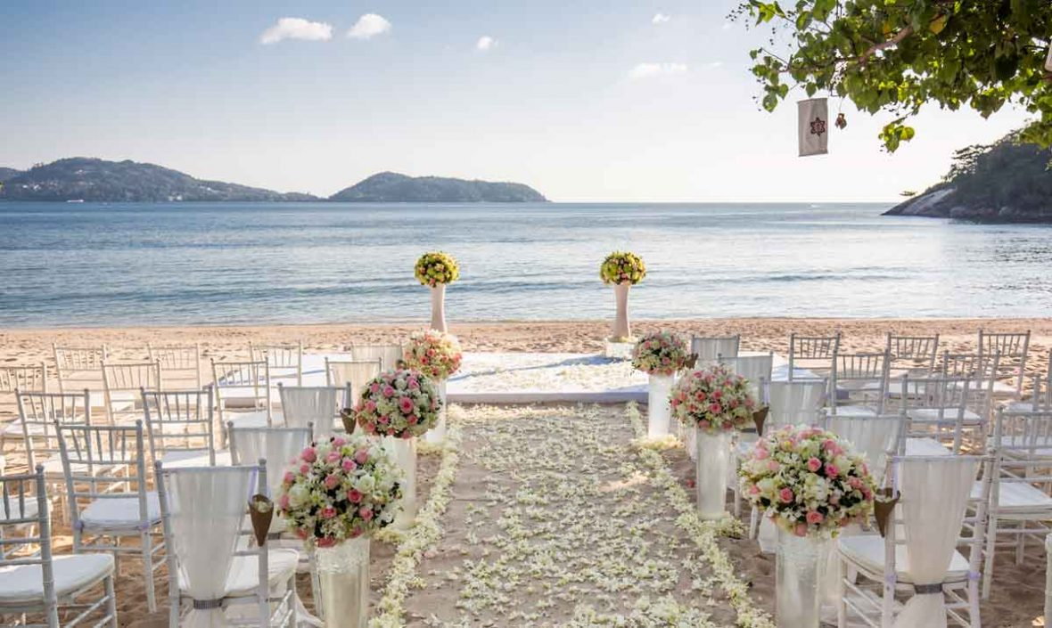 beach weddings phuket, Romantic Wedding Location