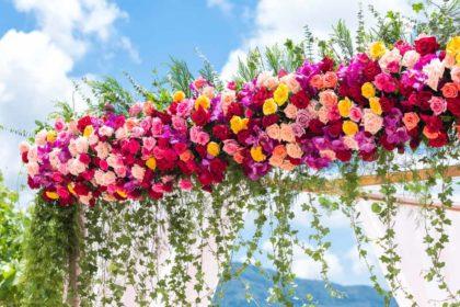 flower beach wedding, phuket beach wedding
